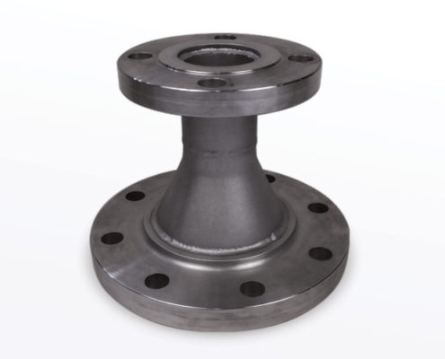 Carbon Steel Concentric Reducer With 150 lbs Slip On Flanges